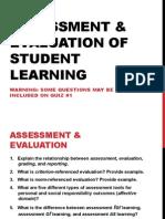5+q's+assessment++evaulation