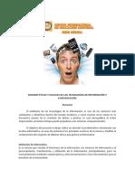 Razones Éticas y Sociales de Las Tecnologías de Información y Comunicación