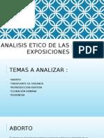 Analisis Etico de Las Exposiciones