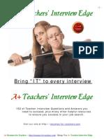 Teachers Interview Edge