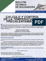 Bol79 Calculo y Control de La Temperatura de Precalentamiento