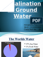 Desalination fo Ground Water
