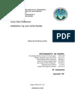 Principios y Valores en Relacion Al Medio Ambiente Etica. (1)