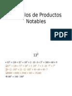 Ejemplos de Productos Notables
