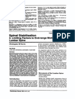 1995 Spinal Stabilisation, 2. Limiting Factors to End-range Motion in the Lumbar Spine