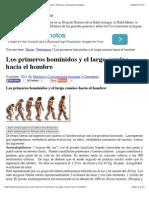Los primeros homínidos y el largo camino hacia el hombre | Historia y Civilizaciones Antiguas