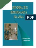 Monitorizacion hemodinamica invasiva