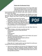 Teori Tentang Kesehatan Dan Keselamatan Kerja Edit