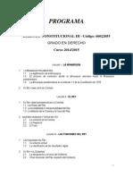 Constitucional III-Derecho - Programa