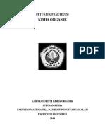 Buku Petunjuk Praktikum Kimia Organik 2014