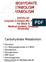 Carbohydrate Metabolism Catabolism 2013