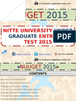 NUUGET 2015 MBBS ENTRANCE EXAM 2015