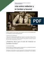 Diferencias Entre Escribir y Redactar