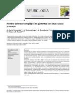 2012 Hombro Doloroso Hemipléjico en Pacientes Con Ictus, Causas y Manejo
