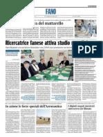 Ricercatrice fanese attiva studio mondiale - Il Corriere Adriatico del 23 marzo 2015