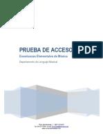 Descripción de Las Pruebas de Acceso GE 2015 - 2016