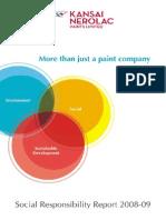 Corporate Social Responsibility Report 2008-09