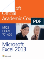 Exam 77-420 Microsoft Excel 2013 - Microsoft Official Academic Cou