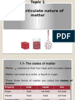 Chemistry Particulate Nature of Matter