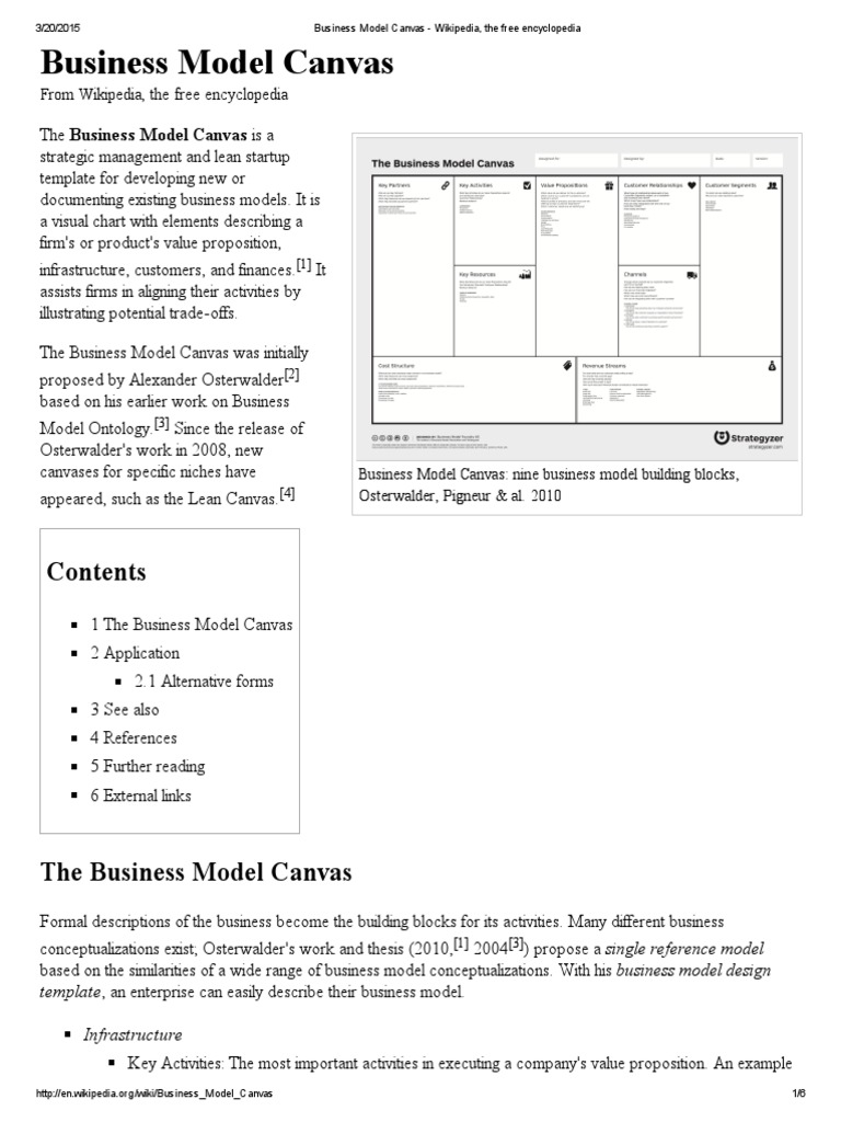 Business model canvas wikipedia the free encyclopedia business business model canvas wikipedia the free encyclopedia business model market segmentation accmission Image collections