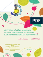 Critical Review Jurnal Analisis Difusi Keruangan Kawasan Perkotaan Yogyakarta
