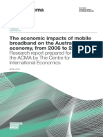 Economic Impacts of Mobile Broadband