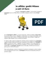 Passeggini in Affitto Goditi Milano Expo 2015 a Soli 13 Euro