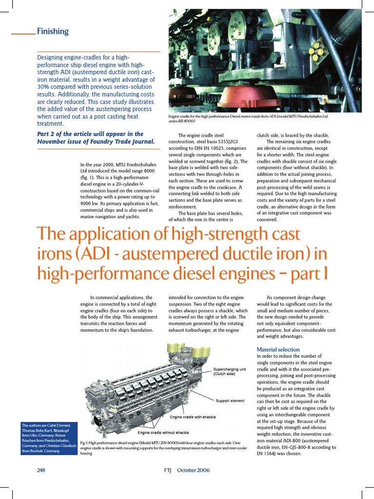 The Application of ADI in Diesel Engines | Heat Treating