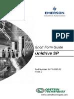 Unidrive SP Short Form Guide