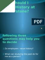 why should i study history at cornerstone