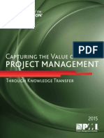 Capturing the Value of Project Management Through Knowledge Transfer