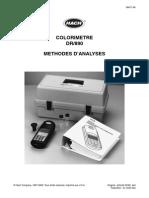 Colorimetre DR 890 Methodes D'Analyses