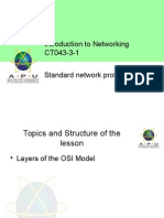 Standard network protocols