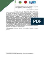 Almeida, w. s. - Diferenciais Salariais e Discriminação Por Gênero e Raça No Mercado de Trabalho Potiguar (2012)