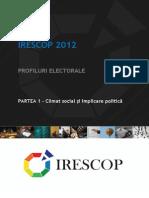 IRESCOP 2012 - I - Climat Social Şi Implicare Politică
