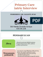 The Primary Care Psychiatric Interview
