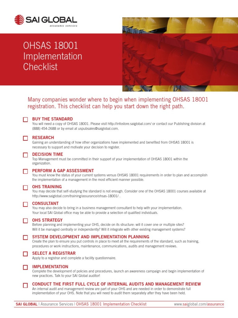 OHS 18001 | Internal Audit | Audit