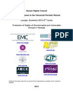 Protection of Rights of Discriminated and Vulnerable Groups in Georgia