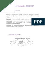 Teste de Português – 30/11/2007