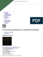 Curso Do Pós-graduação Em Arquitetura Hoteleira - Casa Pro