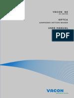 Vacon NX OPTC4 LonWorks Board User Manual DPD00898