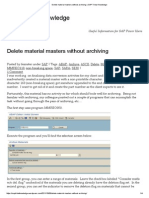 Delete Material Masters Without Archiving _ SAP Tribal Knowledge