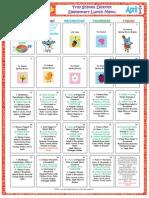 elementary menu april 2015