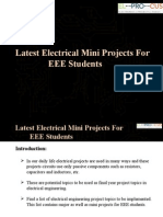 Latest Electrical Mini Projects For EEE Students