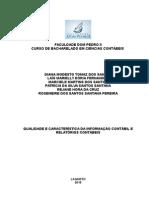 QUALIDADE E CARACTERÍSTICA DA INFORMAÇÃO CONTÁBIL E RELATÓRIOS CONTÁBEIS.docx