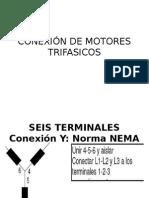 Conexión de Motores Trifasicos