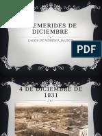 Efemerides de Diciembre