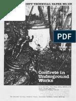 Concrete in Underground Works
