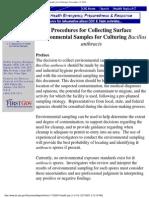 Procedura Pt. Colectarea Probelor de Mdiu Pt. Bacillus Anthracis