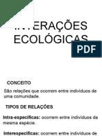 INTERAÇÕES ECOLÓGICAS